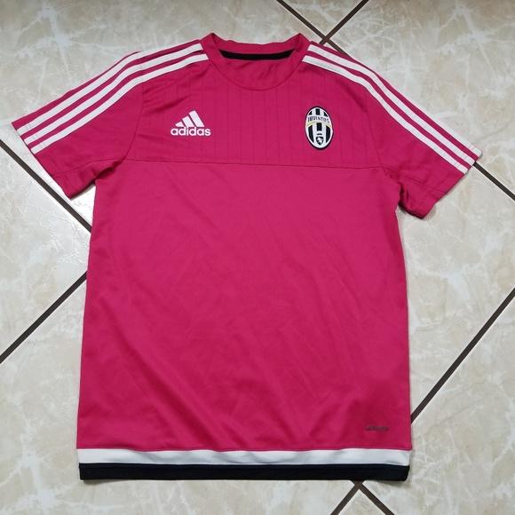 detailed look 3305b ad965 Adidas Juventus Pink Training Soccer Jersey Large